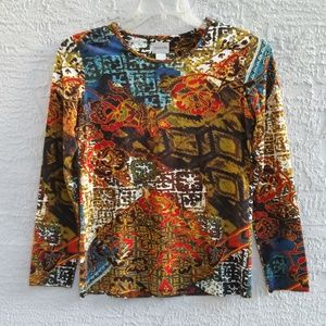 💥3 for $20💥Chicos Multicolored Top Size 0 (Sm 4)